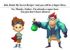 Illustration: Zu allen Vätern und zu Söhnen Hoffnung haben sie ein gutes Verhältnis Lizenzfreie Stockfotos