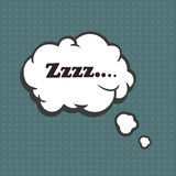 Illustration of a Zzzz in comic stile, on cloud Stock Images