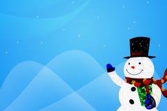 Illustrationbakgrund av snögubben Fotografering för Bildbyråer