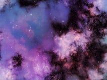 Illustrationbakgrund av spasen, nebulosan och stjärnor Vektor Illustrationer