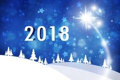 Illustrationbakgrund 2018 för lyckligt nytt år Royaltyfria Bilder
