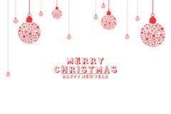 Illustrationbakgrund, julkort klumpa ihop sig med vit bakgrund Arkivbilder