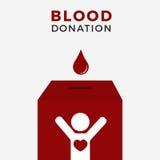 Illustrationbegrepp av asken för bloddonation Arkivfoton