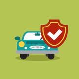 Illustrationbegrepp av det auto lånet i plan design arkivbild