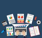 Illustrationbegrepp för analys Fotografering för Bildbyråer