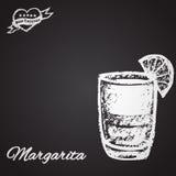 Illustrationcoctailkrita: Margarita Mest bra coctailtema Royaltyfri Foto