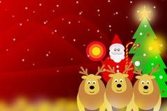 Illustrationdiagram Backgrou för glad jul och för lyckligt nytt år Royaltyfri Fotografi