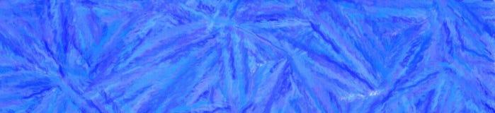 Illustrationen av blå pastell med den långa borsten slår banerbakgrund vektor illustrationer