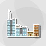 Illustrationen av byggnad, vektordesignen, byggnad och fastigheten gällde Royaltyfria Foton