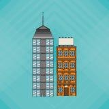Illustrationen av byggnad, vektordesignen, byggnad och fastigheten gällde Fotografering för Bildbyråer