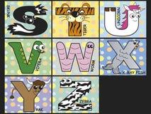 Djurt alfabet Arkivfoton