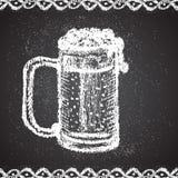 Illustrationen av krita målat öl rånar med Fotografering för Bildbyråer