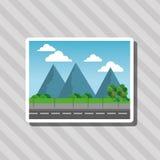 Illustrationen av naturstaden, vektordesignen, byggnad och fastigheten gällde Royaltyfria Foton