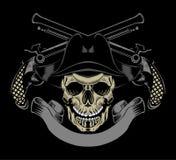 Illustrationen av piratkopierar skallen Royaltyfri Bild