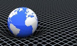 Jord och gravitations- sätter in   Arkivbild