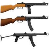 Bearbeta med maskin pistolen Arkivfoton
