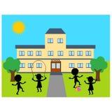Skola byggnad Royaltyfria Bilder