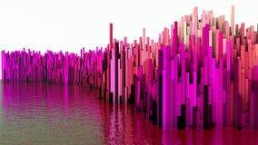 illustrationen 3D av abstrakt begrepp framför strukturen gjord av miljonerkolonner Royaltyfri Fotografi