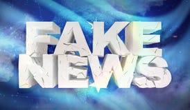 illustrationen 3D av fejkar nyheternabegrepp med bakgrundsflaggan av Federated States of Micronesia stock illustrationer