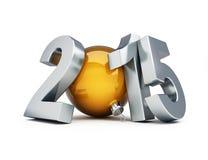 Illustrationen 3d des guten Rutsch ins Neue Jahr-2015 Stockfotos