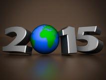 Illustrationen 3d des guten Rutsch ins Neue Jahr-2015 Lizenzfreies Stockfoto