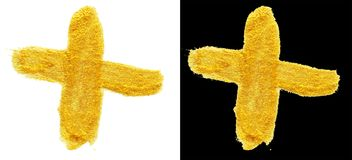 Illustrationen des Hand gezeichneten Goldes und des schwarzen Farbfarbenabstrichst. Stockfotografie
