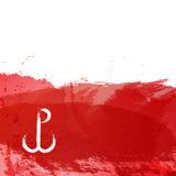 Illustrationen för abstrakt begrepp för bakgrund för symbol för illustration för Warszawaupprorvektor Royaltyfri Bild