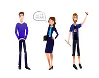 Illustrationen för affärslagVEKTORN, tecken ställde in: Affärsman affärskvinna, formgivare vektor illustrationer