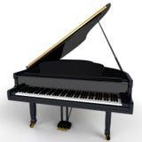 illustrationen för black för bakgrund 3d isolerade den ljusa storslagna pianot Royaltyfria Foton