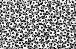 illustrationen för bollar 3d framförde fotboll Arkivfoto