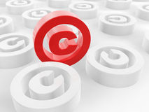 illustrationen för copyrighten 3d framförde symbol stock illustrationer