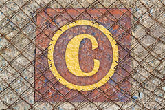illustrationen för copyrighten 3d framförde symbol Royaltyfria Foton