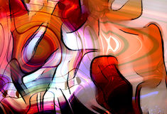 Illustrationen för den grafiska designen av anmärkningar och anmärkningen fodrar i cirkelstrukturen, musikbegrepp Brandeffekt Royaltyfria Foton