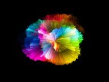 illustrationen för fractals för explosionen för abstrakt bakgrundsfärg texturerade den digitala Arkivbilder