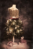 illustrationen för mappen för eps för 8 inkluderade den härliga kortjul treetappning Royaltyfria Bilder