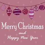 Illustrationen för ` s för det nya året med en girland av jul klumpa ihop sig royaltyfri illustrationer
