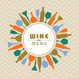 Illustrationen för vin shoppar menymaterielvektorn Royaltyfri Foto