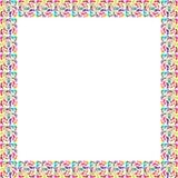 Inrama av färgrik fot Arkivfoto