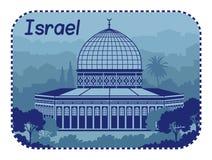 Illustrationen med helgedom begraver i Israel vektor illustrationer