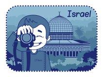 Illustrationen med helgedom begraver i Israel royaltyfri illustrationer