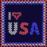 Illustrationen på patriotiska teman Arkivfoton