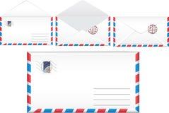Illustrationen postar kuvertet. Arkivbild