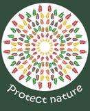 Illustrationen skyddar naturen Arkivfoto