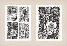 Illustrationen von Tierthemen (Tinte) Lizenzfreie Stockfotografie