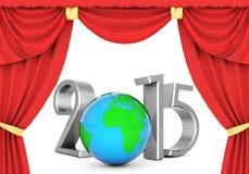 Illustrationer 3d för lyckligt nytt år 2015 Arkivbild