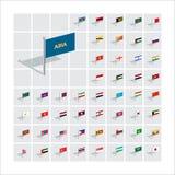 illustrationer för flagga 3D askfat royaltyfri illustrationer