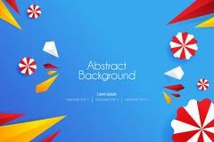 illustrationer för vektor för konst för bakgrund för abstrakt begrepp 3d skraj stock illustrationer