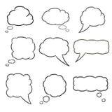 Illustrationer för vit för tankemolnuppsättning Arkivbilder