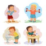Illustrationer för morgongemkonst med unga barn Arkivfoton