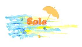 illustrationförsäljningssommar royaltyfri illustrationer